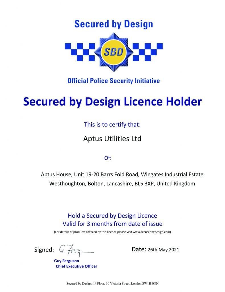 SBD Certificate Aptus Utilities
